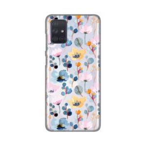 Maska Silikonska Print Skin za Samsung A715F Galaxy A71 Beautiful Floral Blue