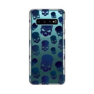 Maska Silikonska Print Skin za Samsung G973 S10 Blue Skulls
