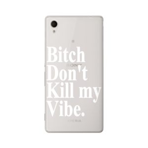 Maska silikonska Print Skin za Sony Xperia M4 Aqua/E2303 Dont Kill My Vibe