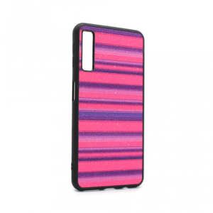 Maska Three stripes za Samsung A750FN Galaxy A7 2018 ljubicasta
