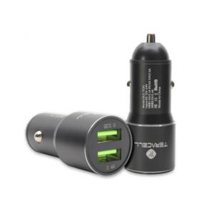 Auto punjac Teracell Evolution TC-05 2xUSB QC3.0 2.4A sa micro USB kablom crni