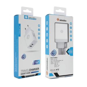Kucni punjac Teracell Evolution TC-04 USB+PD 2.4A sa micro USB kablom beli