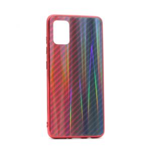 Maska Carbon glass za Samsung A515F Galaxy A51 crvena