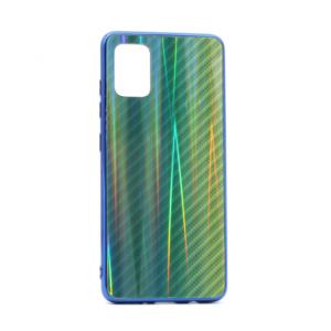 Maska Carbon glass za Samsung A515F Galaxy A51 zelena