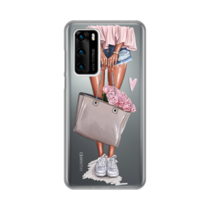 Maska Silikonska Print Skin za Huawei P40 Shopping Girl