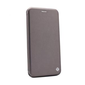 Maska Teracell Flip Cover za Motorola One Macro/G8 Play srebrna
