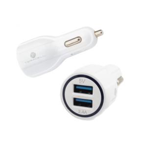 Auto punjac Teracell Ultra DC01 2.4A sa Mini USB kablom beli