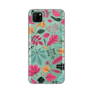 Maska Silikonska Print Skin za Huawei Y5p/Honor 9S Colorful Leaves