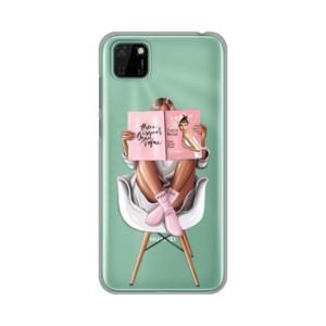 Maska Silikonska Print Skin za Huawei Y5p/Honor 9S Girl in Chair