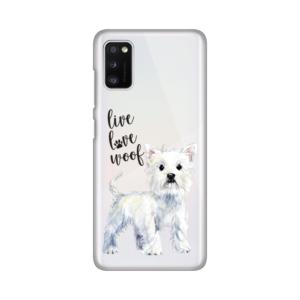 Maska Silikonska Print Skin za Samsung A415F Galaxy A41 Live Love Woof
