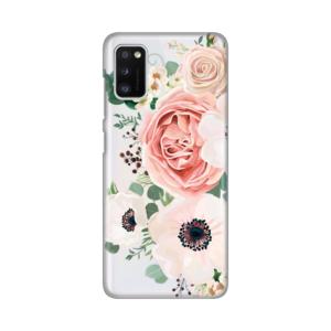 Maska Silikonska Print Skin za Samsung A415F Galaxy A41 Luxury Pink Flowers