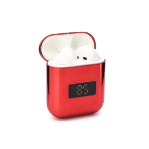 Bluetooth slusalice Airpods A88 metalic mirror crvene