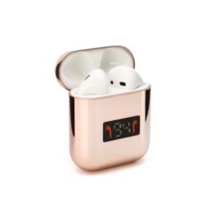 Bluetooth slusalice Airpods A88 metalic mirror roze
