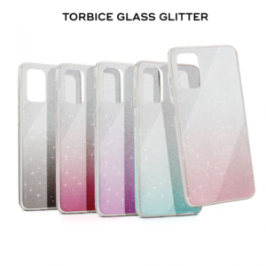 Maska Glass Glitter za Samsung A705F Galaxy A70 ljubicasta