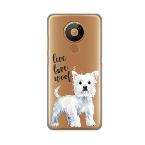 Maska Silikonska Print Skin za Nokia 5.3 Live Love Woof