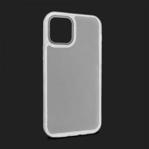 Maska Crystal Cut za iPhone 12 Max/12 Pro 6.1 srebrna