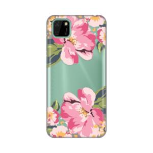 Maska Silikonska Print Skin za Huawei Y5p/Honor 9S Pink Flower