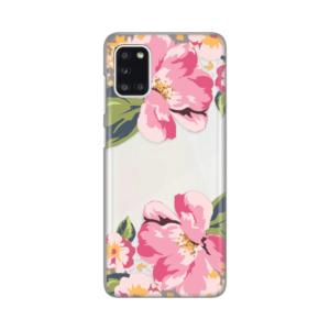 Maska Silikonska Print Skin za Samsung A315F Galaxy A31 Pink Flower