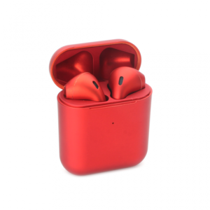 Bluetooth slusalice Airpods Inpods 900 metalik crvene