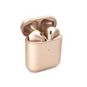 Bluetooth slusalice Airpods Inpods 900 metalik zlatne