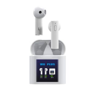 Bluetooth slusalice Airpods M6 Plus bele