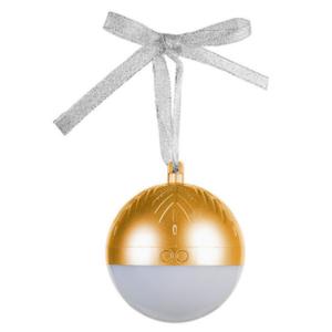 Bluetooth zvucnik novogodisnji ukras zlatni