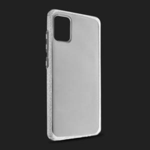 Maska Crystal Cut za Samsung A515F Galaxy A51 srebrna