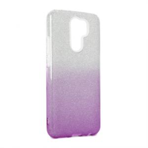 Maska Double Crystal Dust za Xiaomi Redmi 9 ljubicasto srebrna