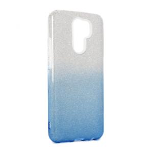Maska Double Crystal Dust za Xiaomi Redmi 9 plavo srebrna