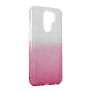 Maska Double Crystal Dust za Xiaomi Redmi 9 roze srebrna