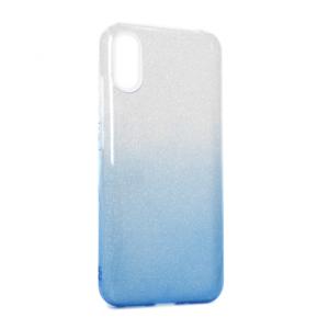 Maska Double Crystal Dust za Xiaomi Redmi 9A plavo srebrna