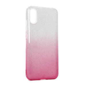 Maska Double Crystal Dust za Xiaomi Redmi 9A roze srebrna