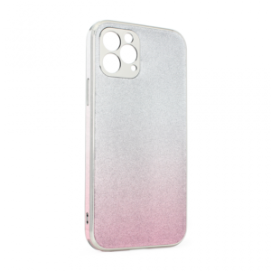 Maska Glass Glitter za iPhone 12 Max/Pro 6.1 roze