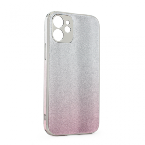 Maska Glass Glitter za iPhone 12 5.4 roze