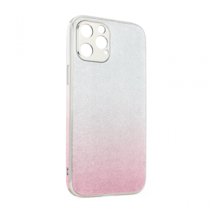 Maska Glass Glitter za iPhone 12 Pro Max 6.7roze