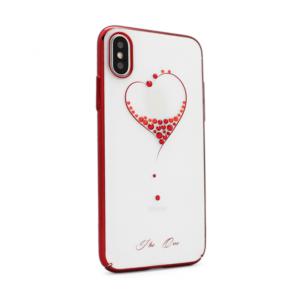 Maska Kavaro New Swarovski za iPhone X My lovely heart red