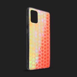 Maska Pattern Heart za Samsung A515F Galaxy A51 narandzasta