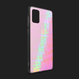 Maska Pattern Square za Samsung A515F Galaxy A51 pink