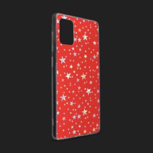 Maska Pattern Star za Samsung A515F Galaxy A51 crvena