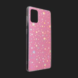 Maska Pattern Star za Samsung A515F Galaxy A51 pink