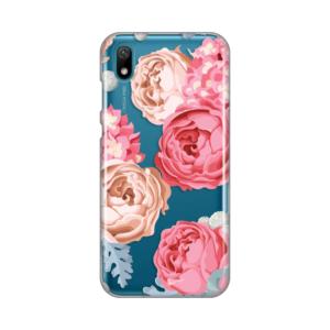 Maska Silikonska Print Skin za Huawei Honor 9X Lite Pink Flowers