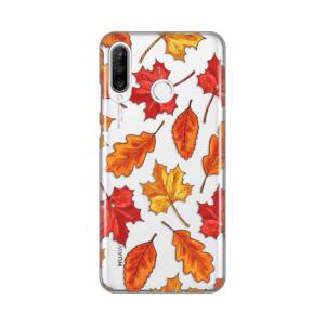 Maska Silikonska Print Skin za Huawei P30 lite Falling Autumn Leaves