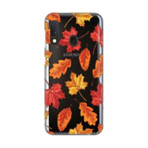 Maska Silikonska Print Skin za Samsung A202F Galaxy A20e Falling Autumn Leaves
