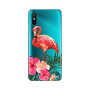 Maska Silikonska Print Skin za Xiaomi Redmi 9A Flamingo Vibes