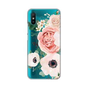 Maska Silikonska Print Skin za Xiaomi Redmi 9A Luxury Pink Flowers