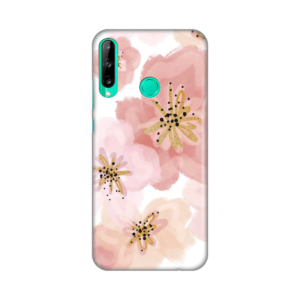 Maska Silikonska Print za Huawei P40 lite E Rose and Gold Flower