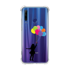 Maska Transparent Ice Cube za Huawei Honor 20 lite/Honor 20e Girl With Baloons