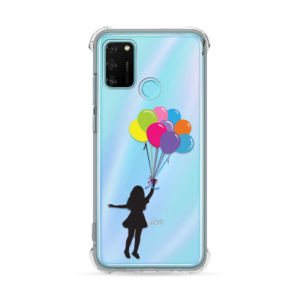 Maska Transparent Ice Cube za Huawei Honor 9A Girl With Baloons