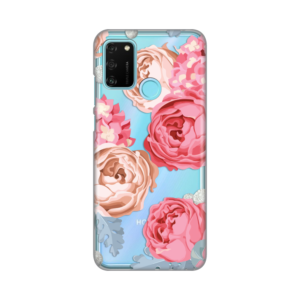 Maska Silikonska Print Skin za Huawei Honor 9A Pink Flowers
