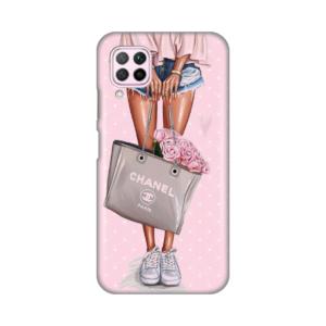 Maska Silikonska Print za Huawei P40 Lite/Nova 6 SE Girl With Bag